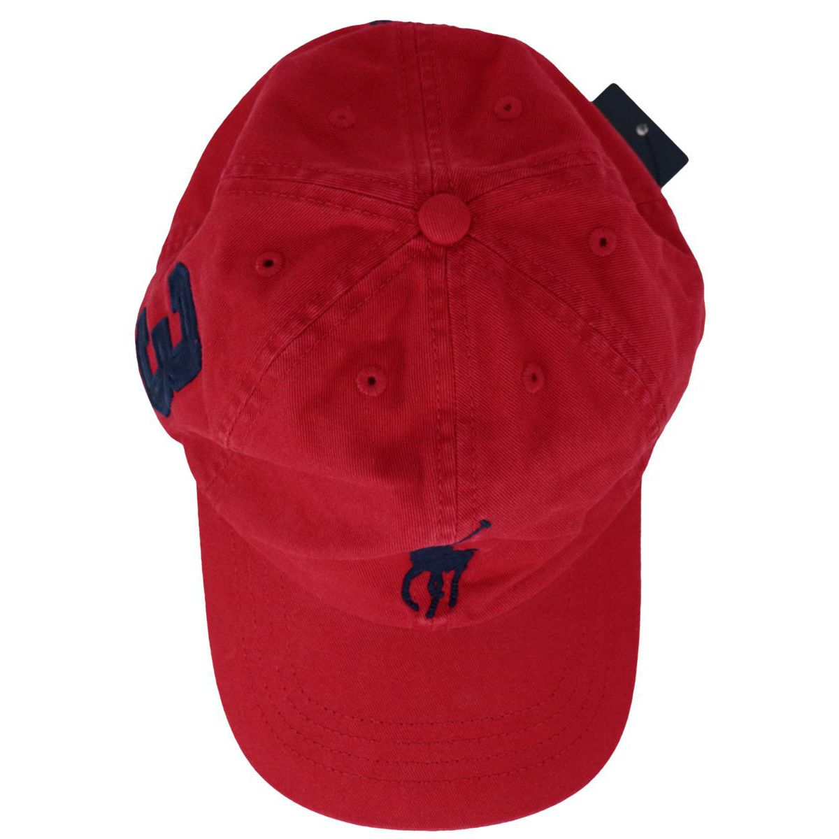 Cotton hat with embroidered logo Red Polo Ralph Lauren