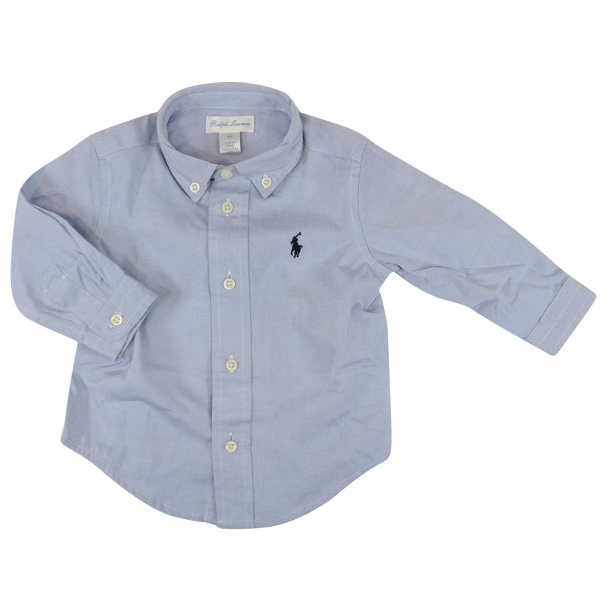 Long-sleeved botton down shirt in cotton Oxford blue Polo Ralph Lauren