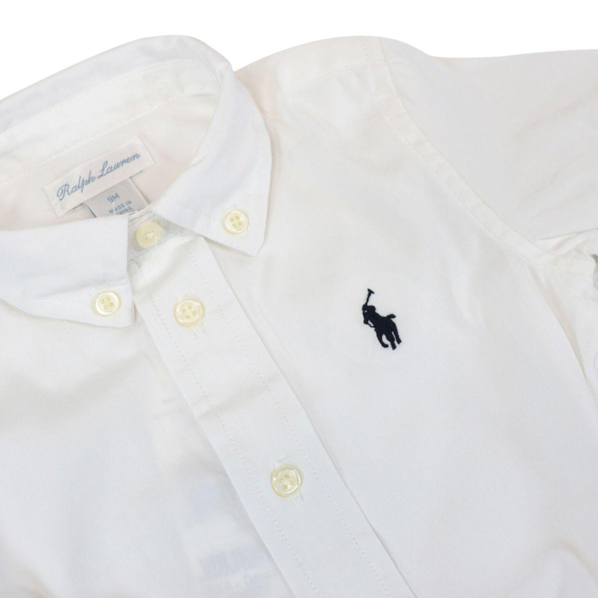 Long-sleeved botton down shirt in cotton White Polo Ralph Lauren