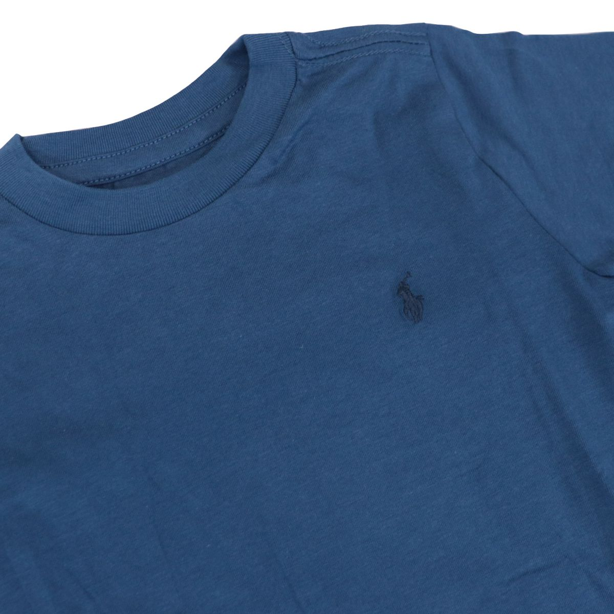 Basic cotton crew-neck t-shirt with logo Blue Polo Ralph Lauren