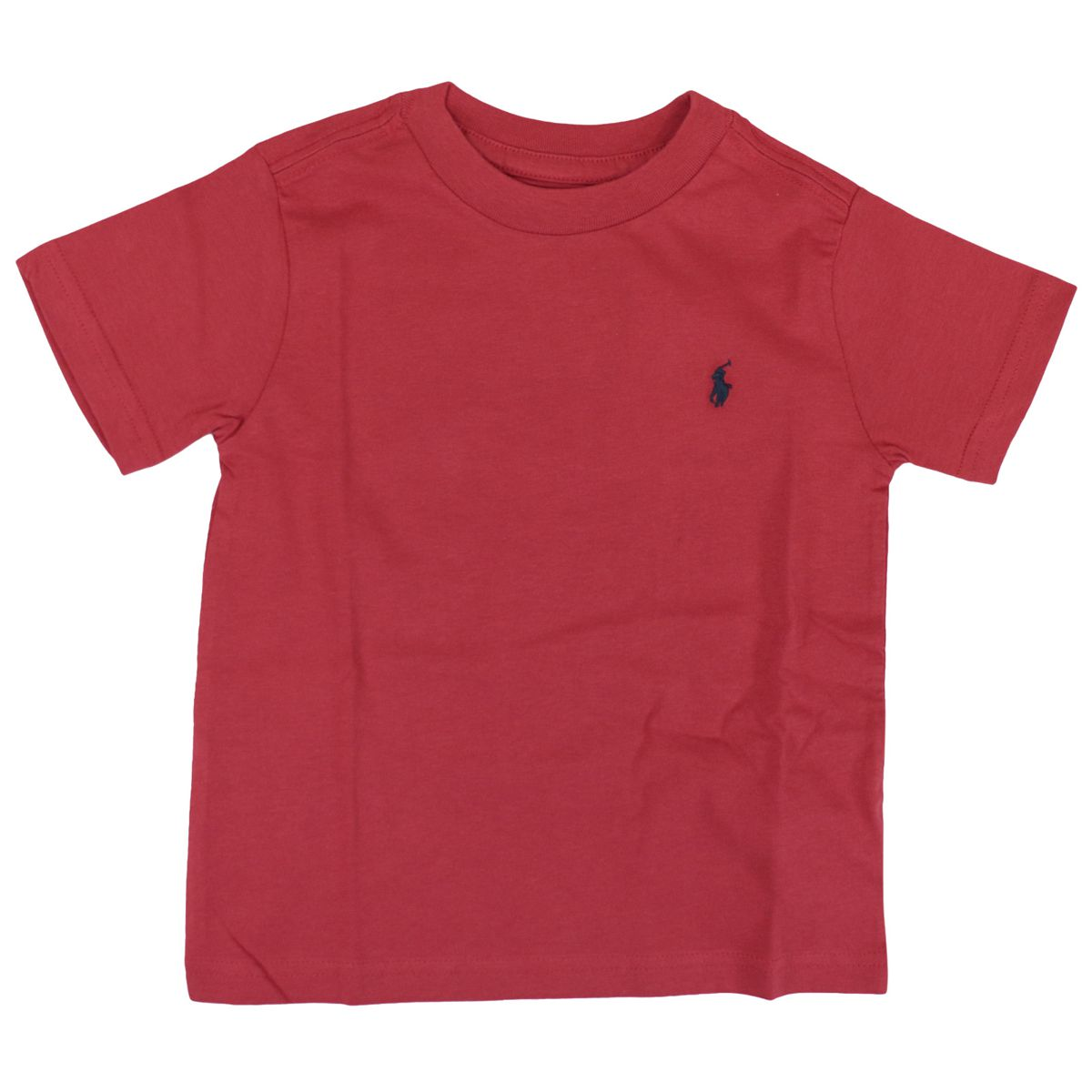Basic cotton crew-neck t-shirt with logo Red Polo Ralph Lauren
