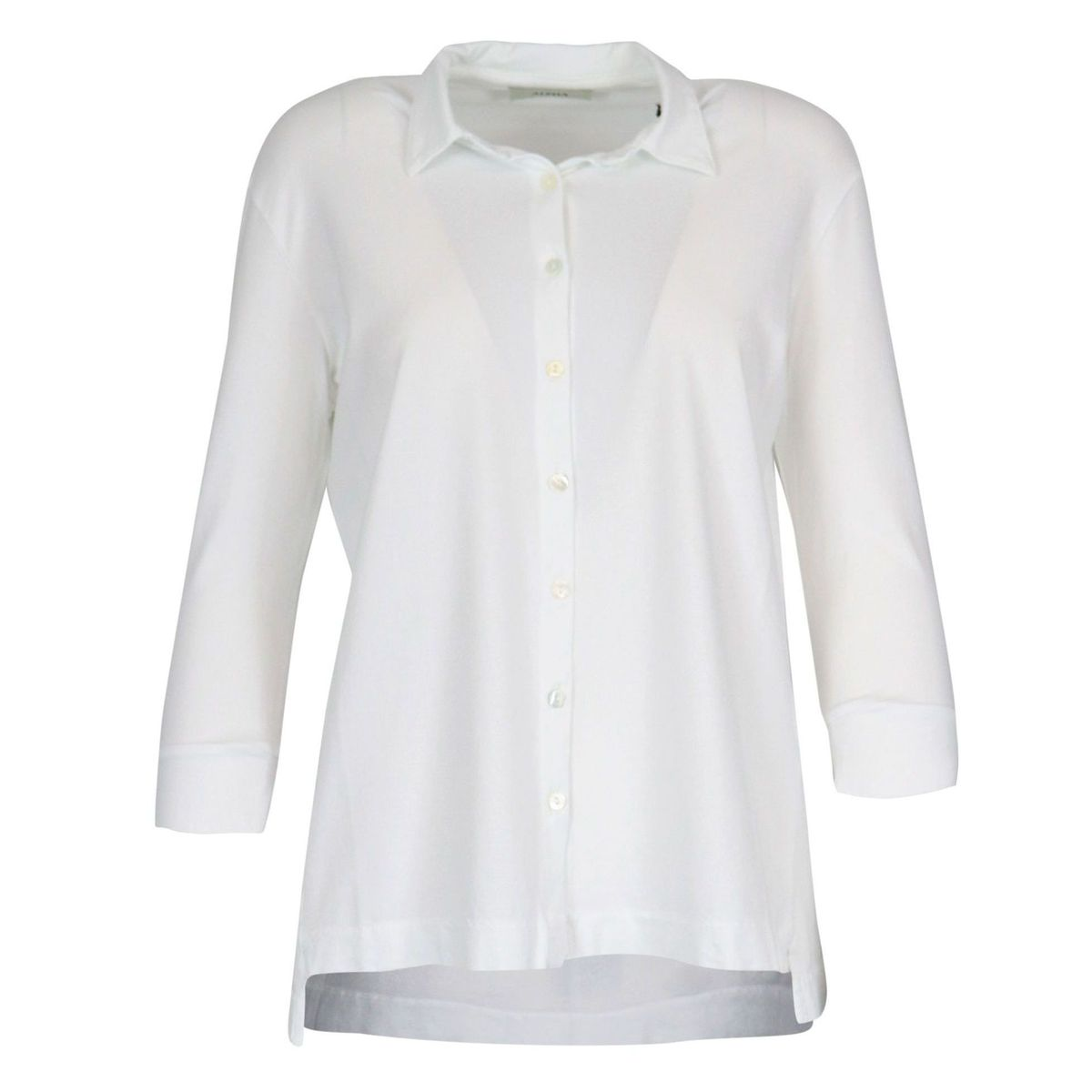 Cotton shirt with 3/4 sleeve White Alpha Studio