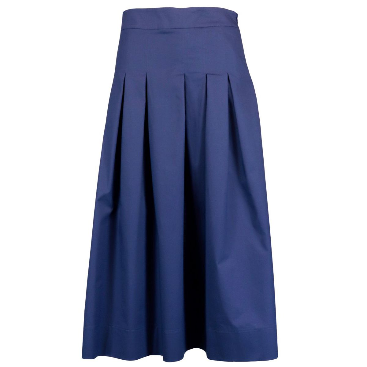Cotton skirt with stitched pleats Indigo Alpha Studio