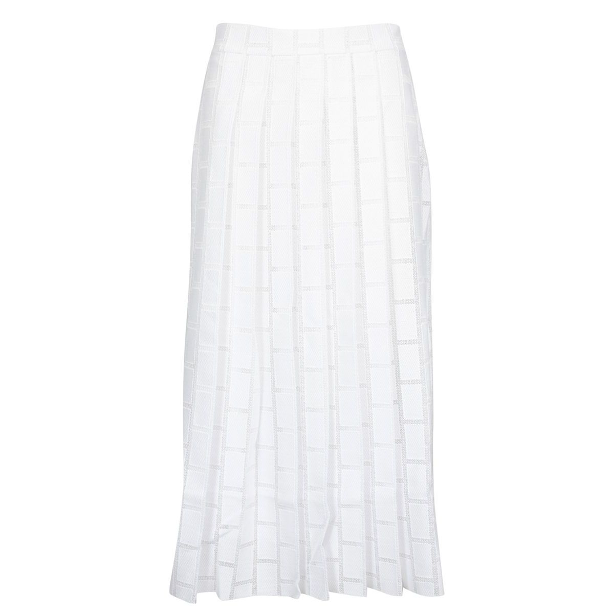 Long viscose skirt with print and folds White Alpha Studio
