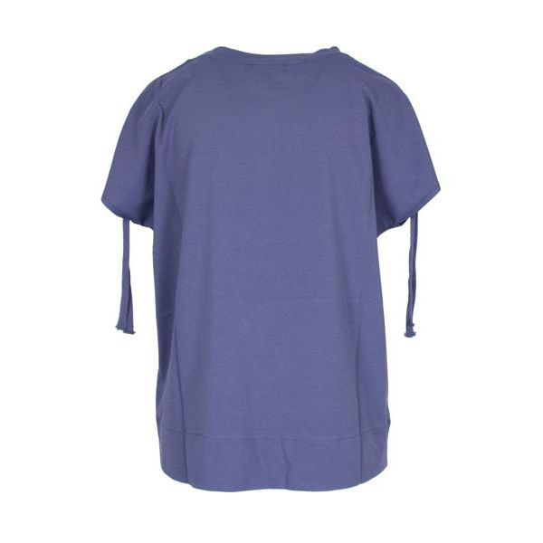 Linen sweater with drawstring on the sleeves Indigo Alpha Studio