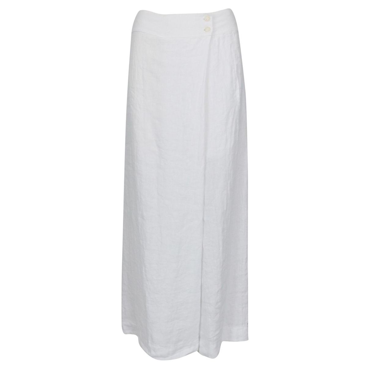 Linen trousers skirt with buttons at the waist White Alpha Studio