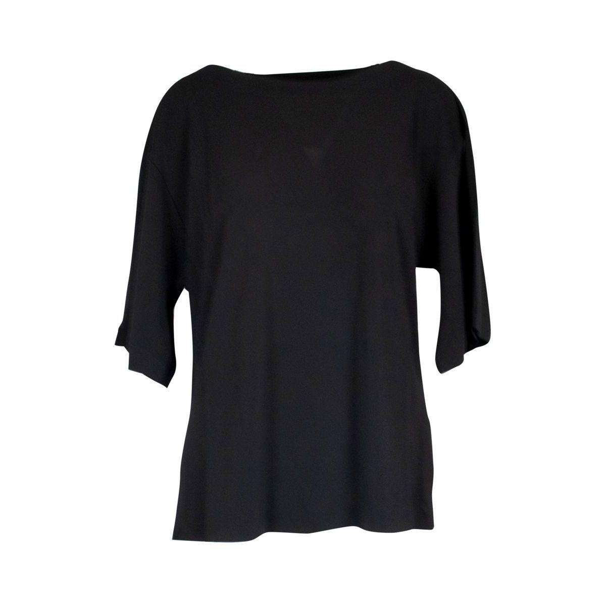 Boat oversized viscose sweater Black Alpha Studio