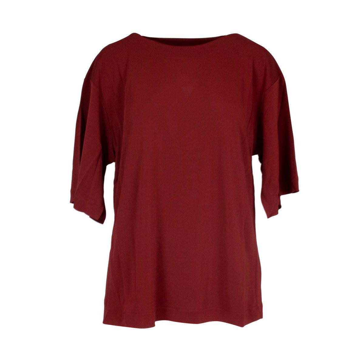 Boat oversized viscose sweater Red Alpha Studio