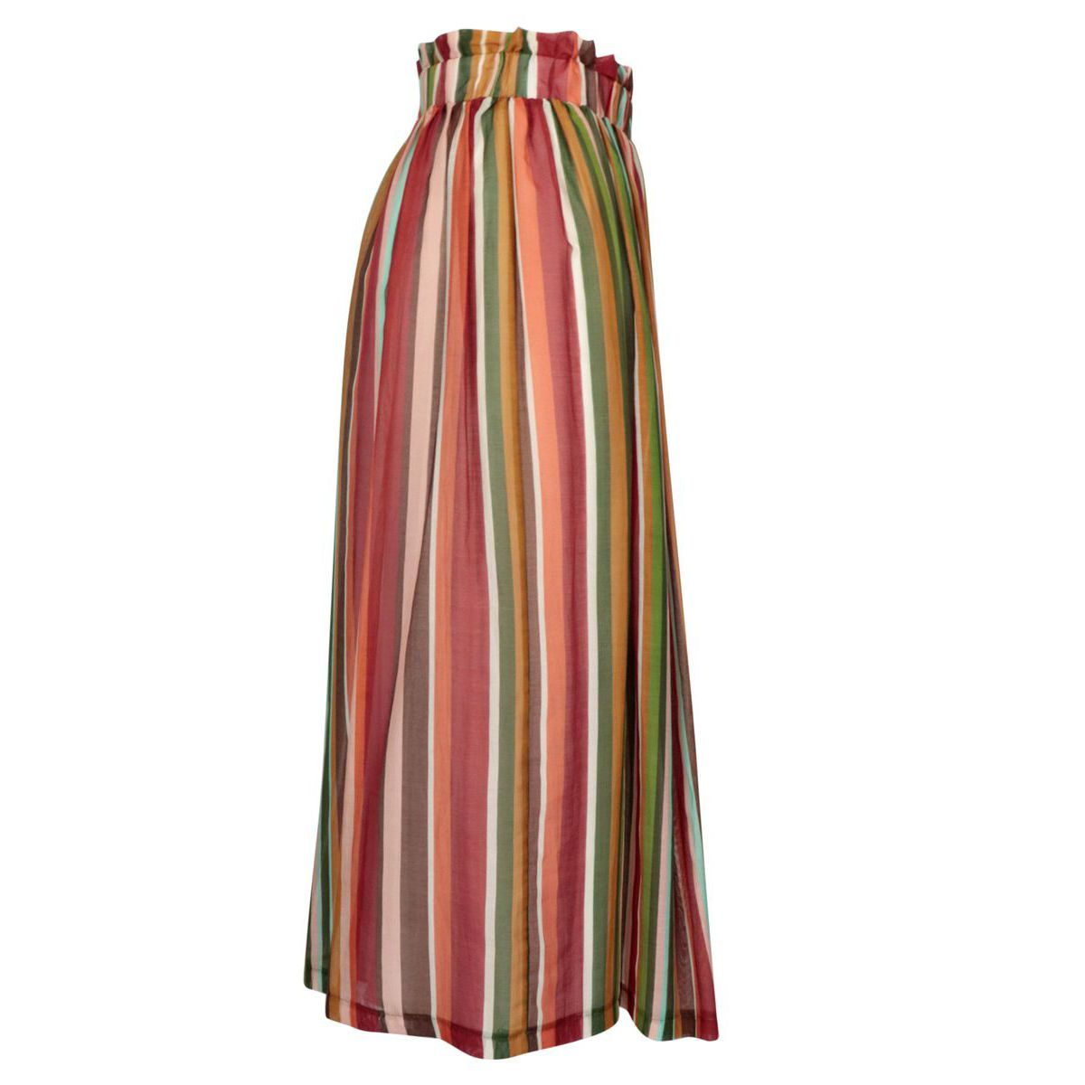 Cotton and silk skirt with elastic waistband Red Alpha Studio