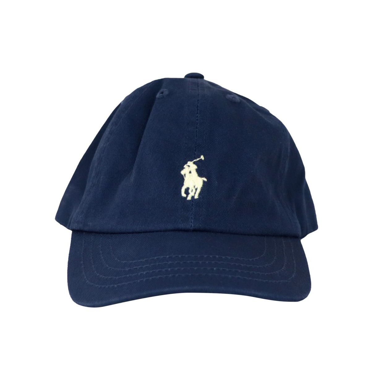 Cotton peaked cap with logo embroidery Navy Polo Ralph Lauren