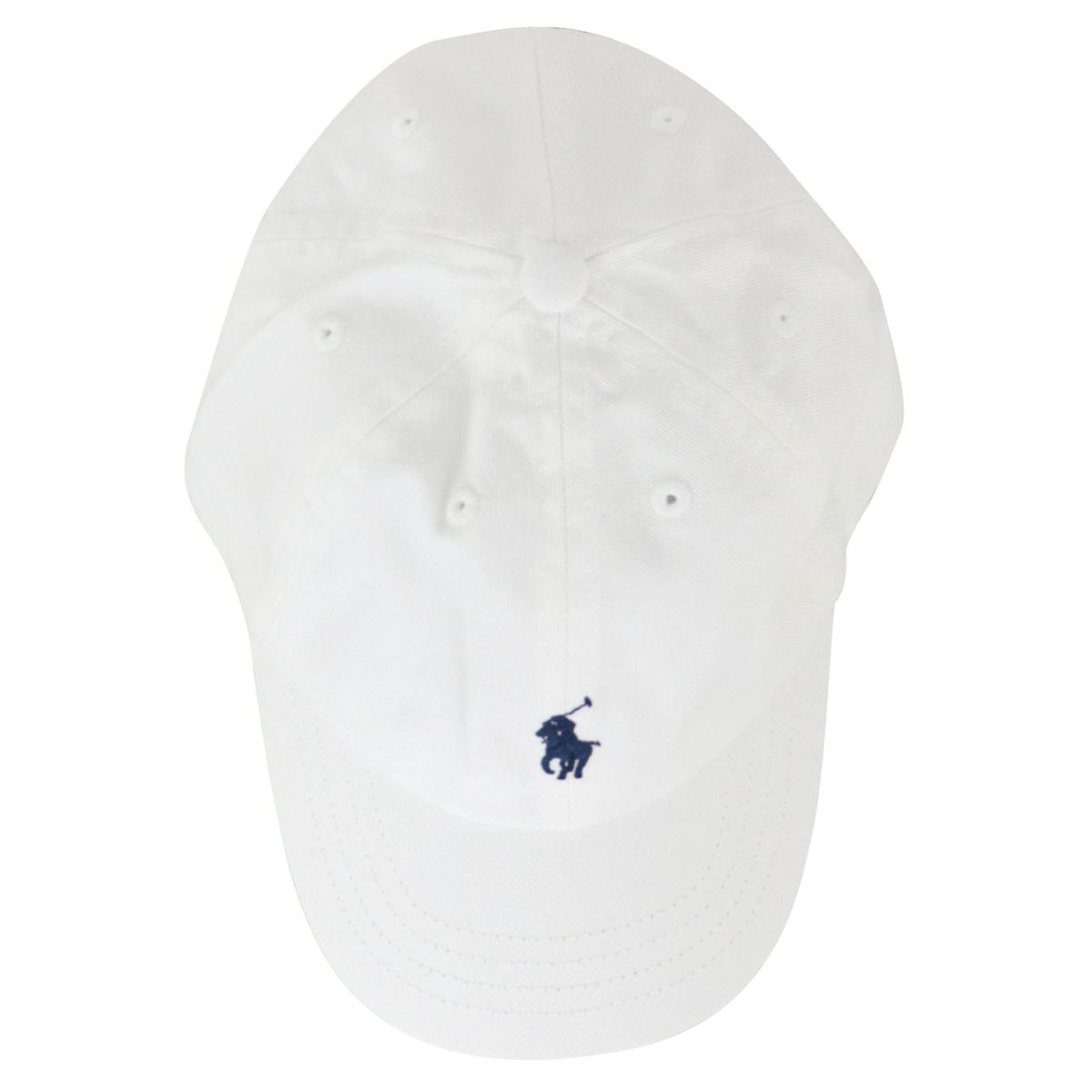 Cotton peaked cap with logo embroidery White Polo Ralph Lauren
