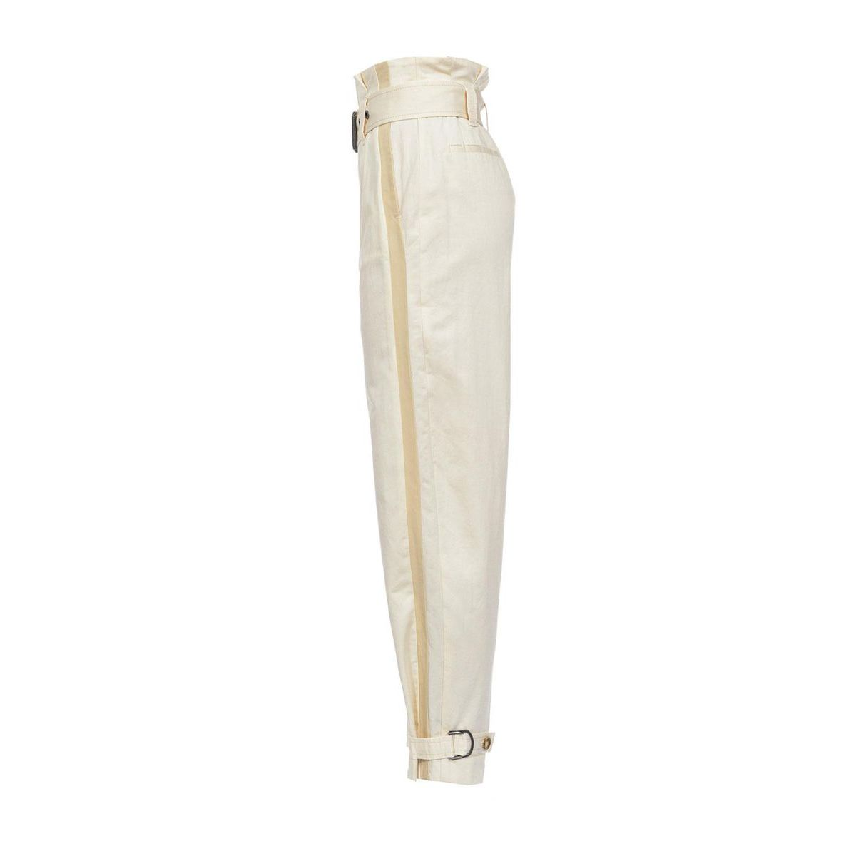 Pippo trousers Rasatello trousers in cotton and linen Light beige Pinko