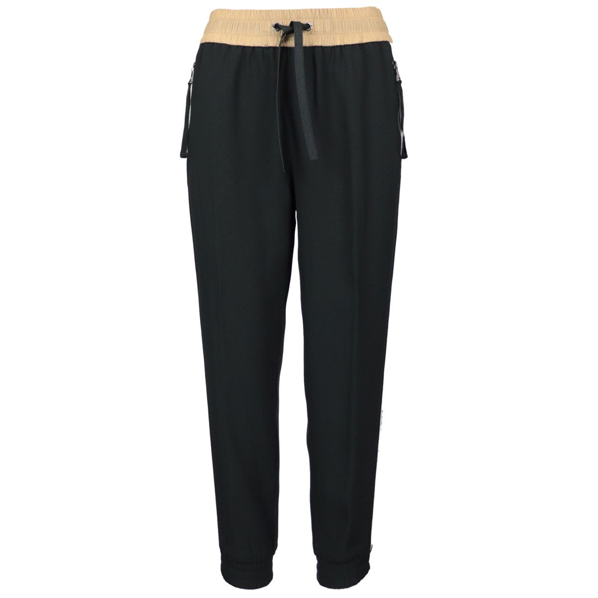 Jogger with elastic band and side band Black Moncler