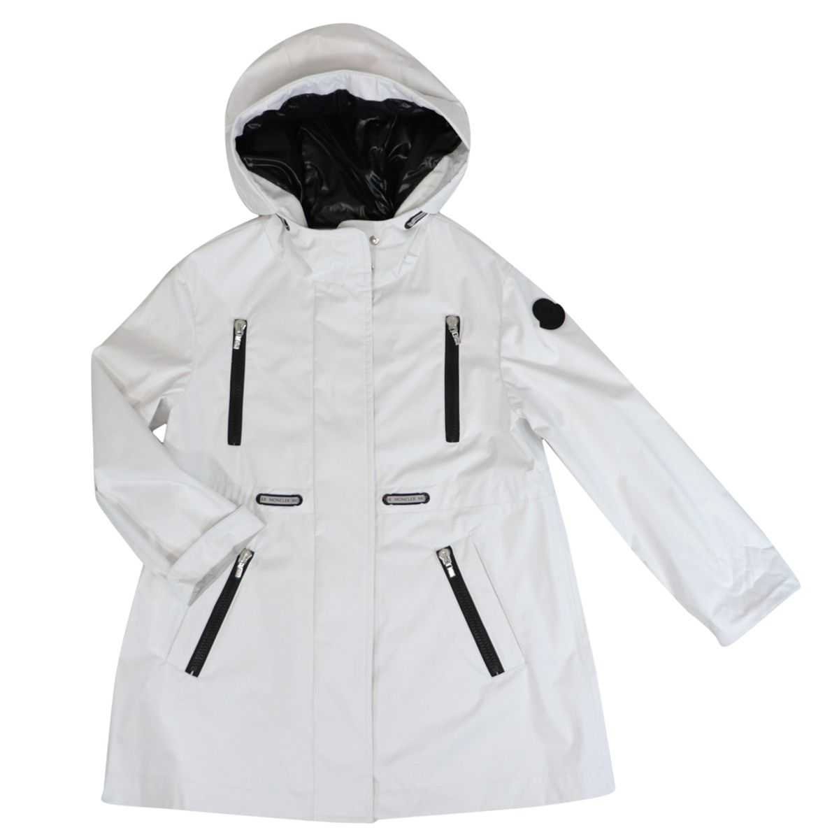 Oksana jacket with hood and zip White Moncler