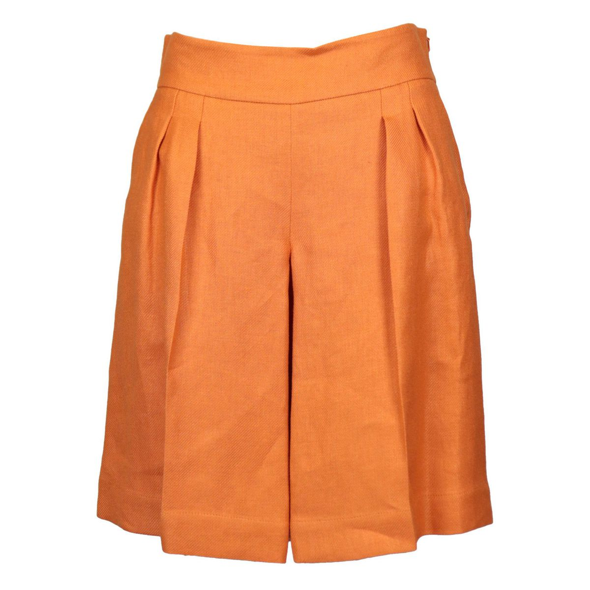 ASIAGO linen shorts with folds Orange MAX MARA STUDIO