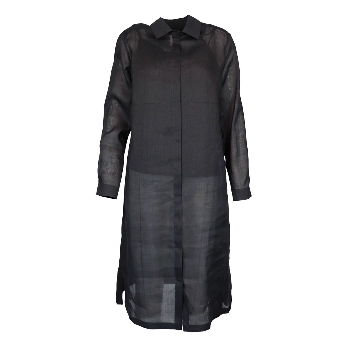 France chemisier dress in silk shantung with top Black MAX MARA STUDIO