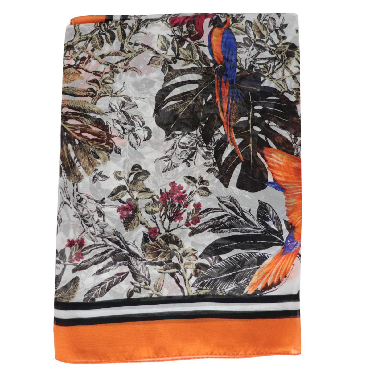 Pamir silk scarf Orange MAX MARA STUDIO