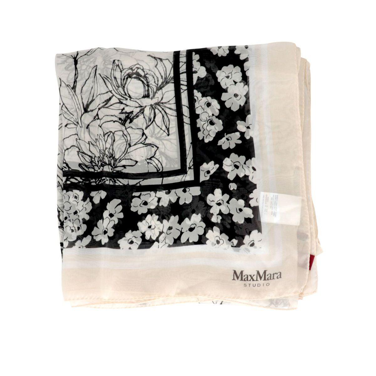Pamir silk scarf Champagne MAX MARA STUDIO