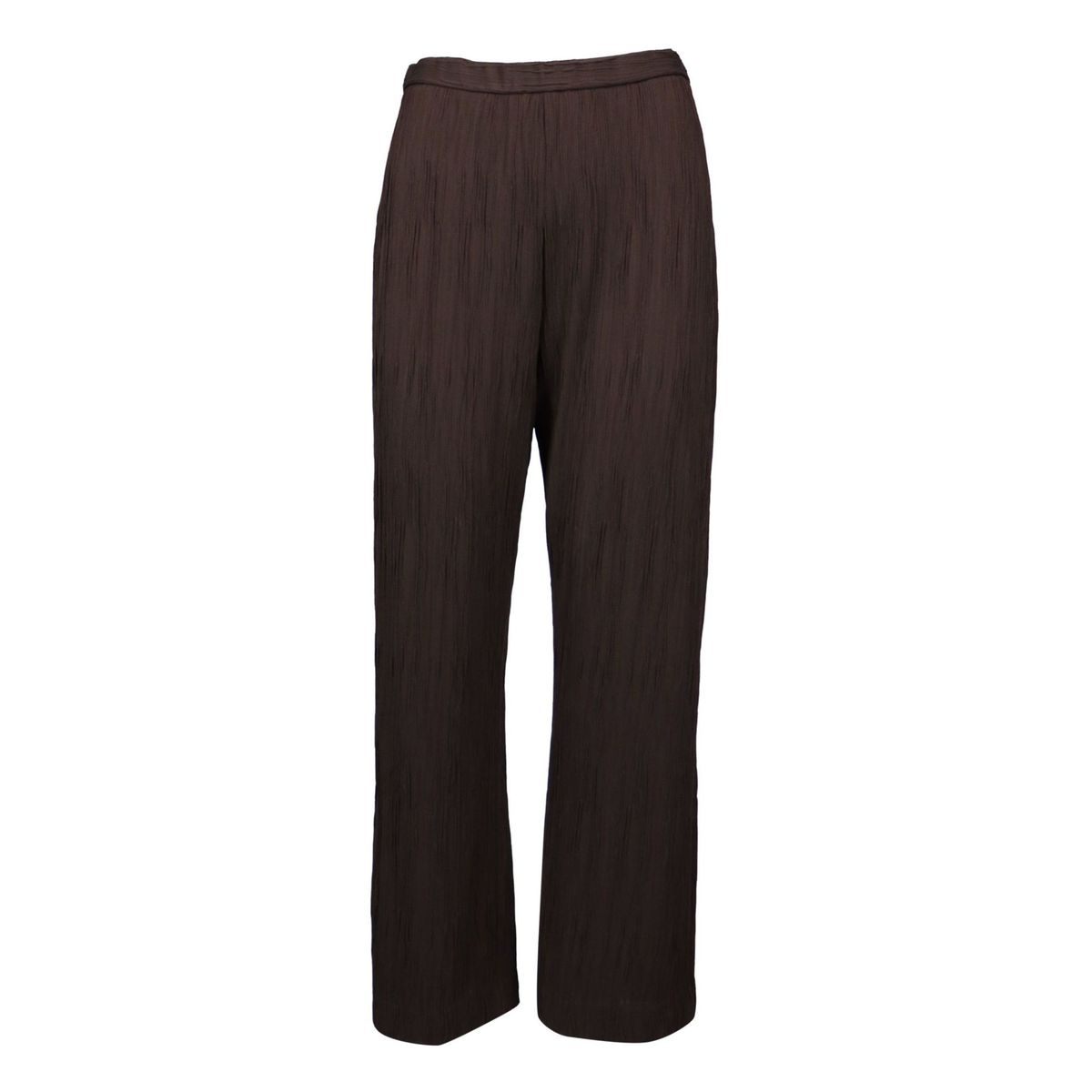 Wide Gail trousers in pleated jersey Brown MAX MARA STUDIO