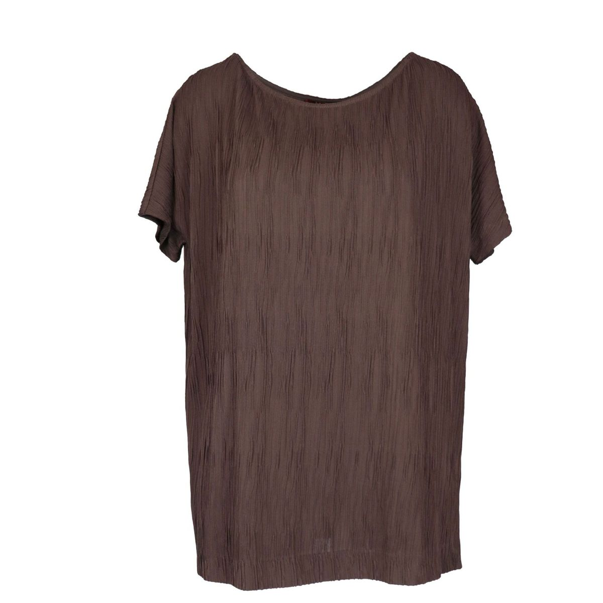 Wide Violet T-shirt in pleated jersey Brown MAX MARA STUDIO