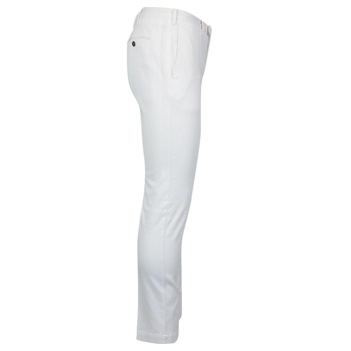 Cotton skinny fit trousers White PT TORINO