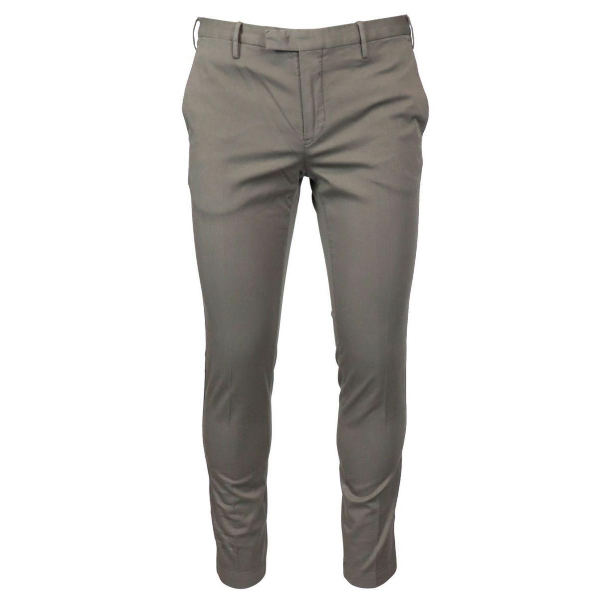 Cotton skinny fit trousers Tortora PT TORINO