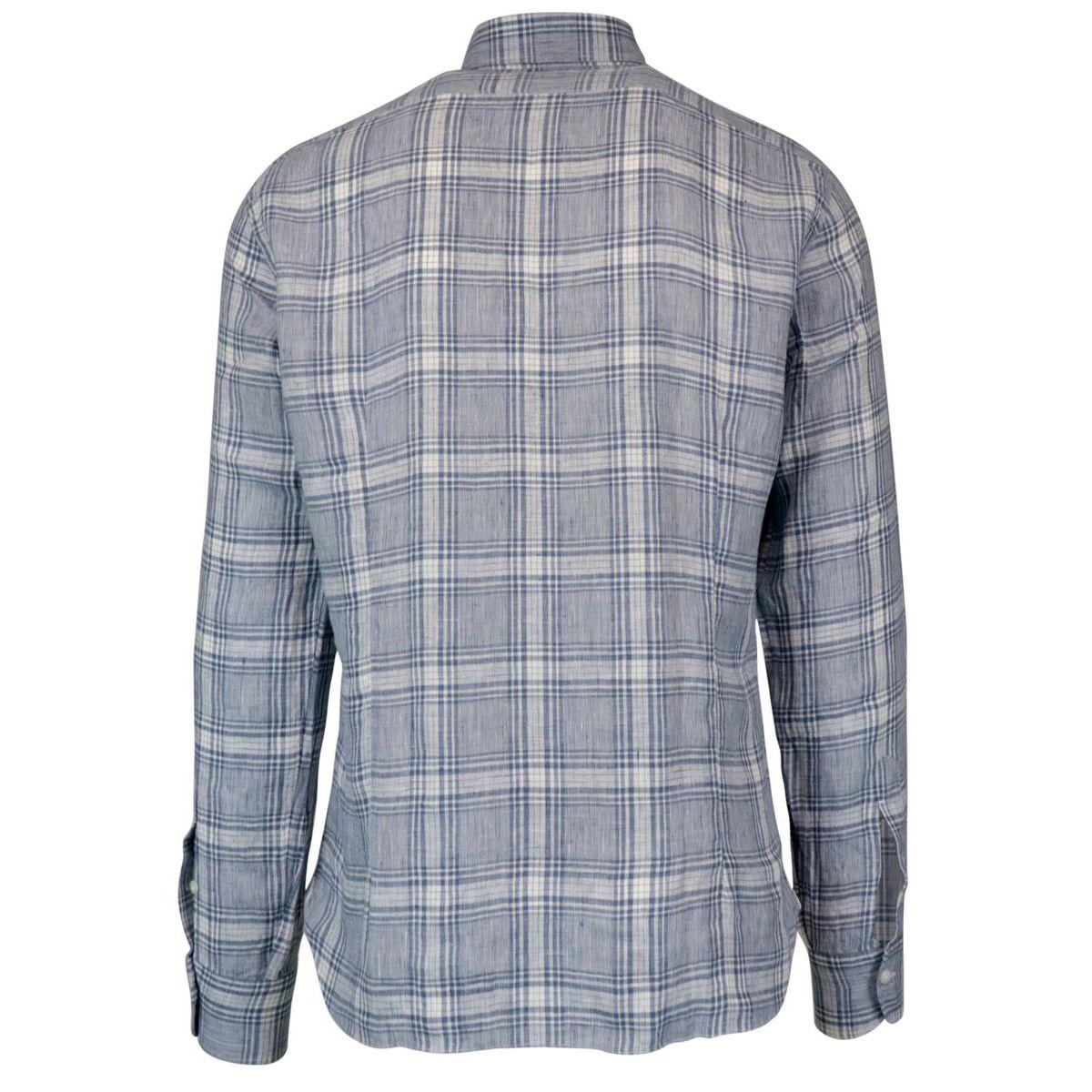 Slim madras pattern linen shirt Heavenly Barba Dandy Life