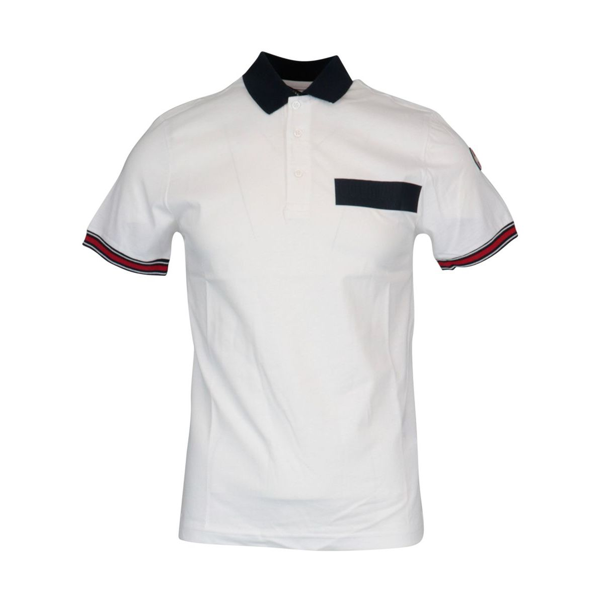 Regular polo in cotton jersey with 3-button collar White Colmar