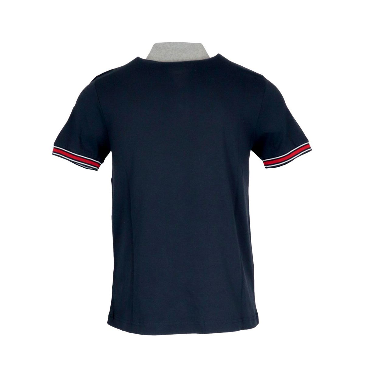 Regular polo in cotton jersey with 3-button collar Navy Colmar
