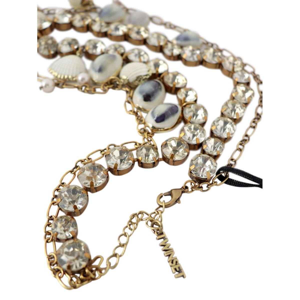 Collana multifilo con conchiglie e perle pendenti Rame Twin-Set