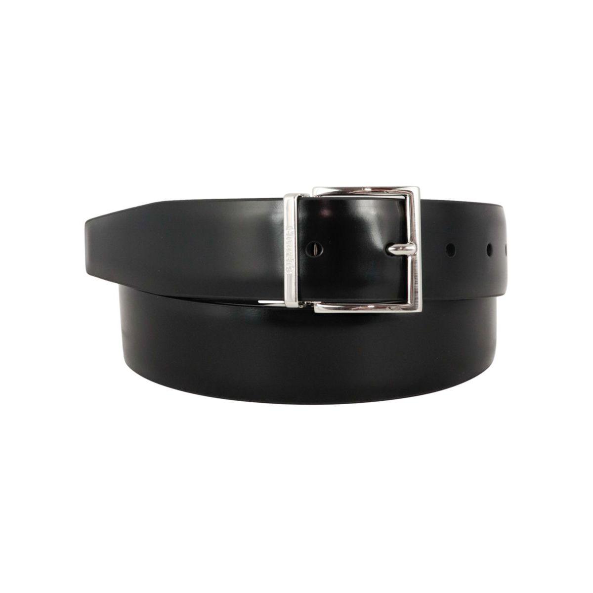 Reversible belt in shiny leather Black / ebony Church's