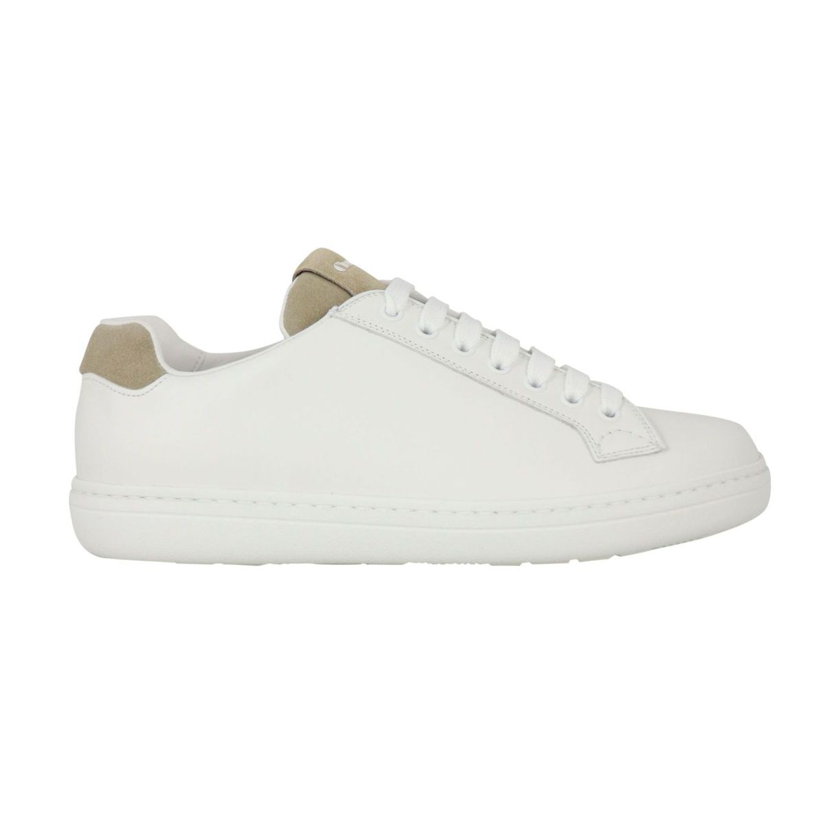 Boland Plus sneakers in leather with suede tongue White / taupe Church's