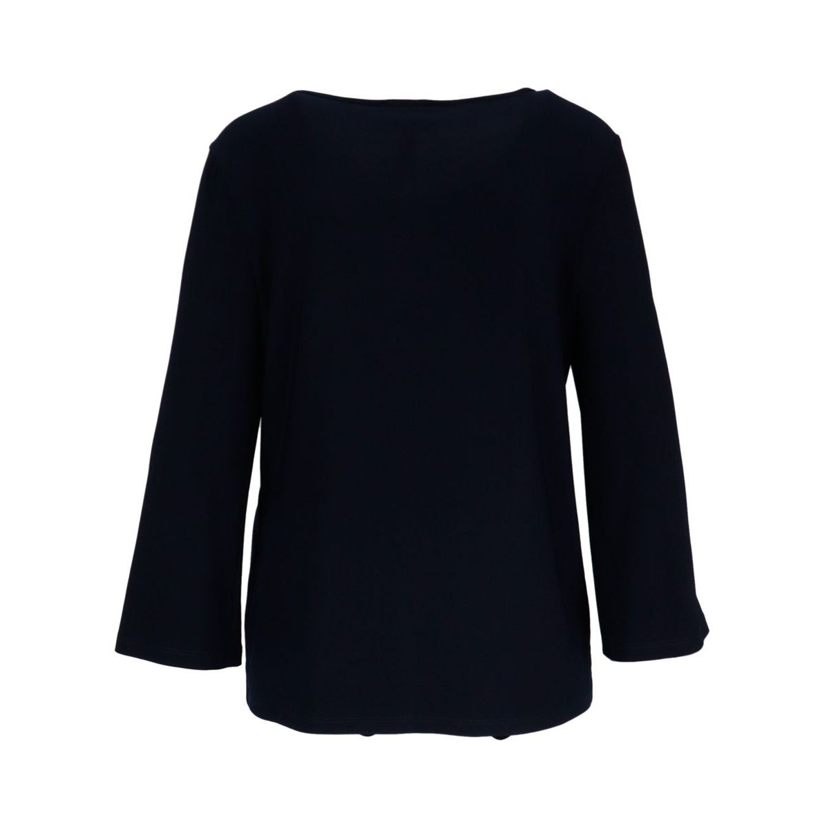 Stretch jersey top with buttons on the sleeves Blue Joseph Ribkoff