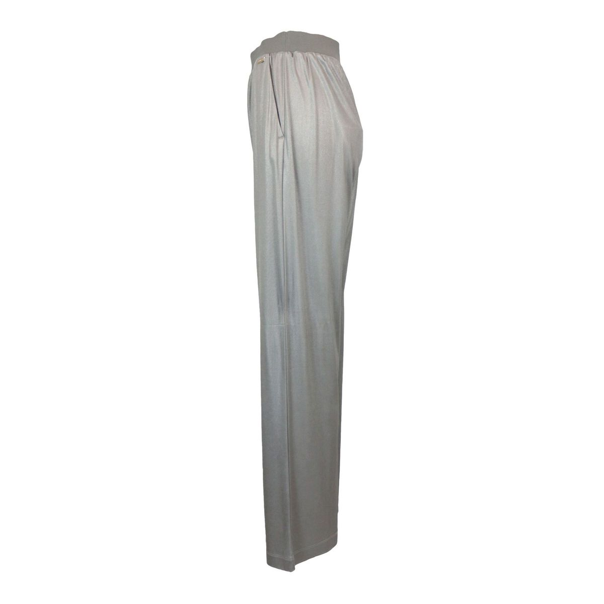 Efisio wide trousers in viscose with elastic waistband Iron Nenette