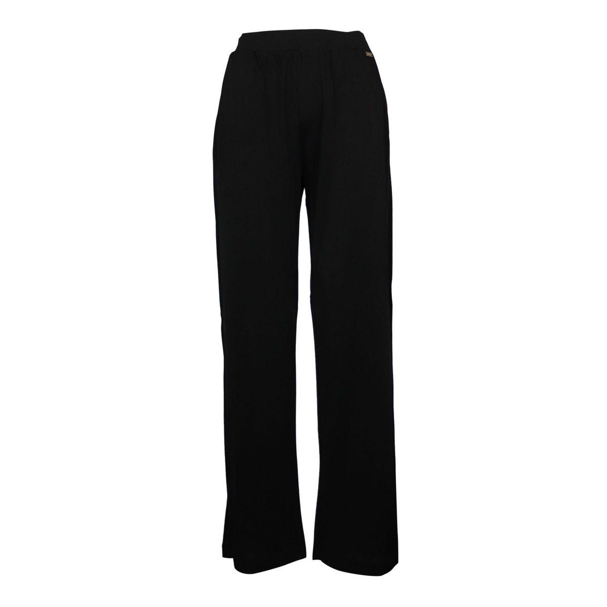Efisio wide trousers in viscose with elastic waistband Black Nenette