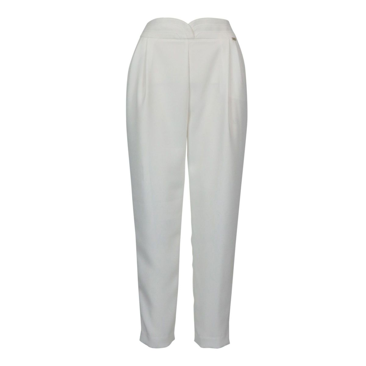 Emeline trousers in cady with pences Optical white Nenette