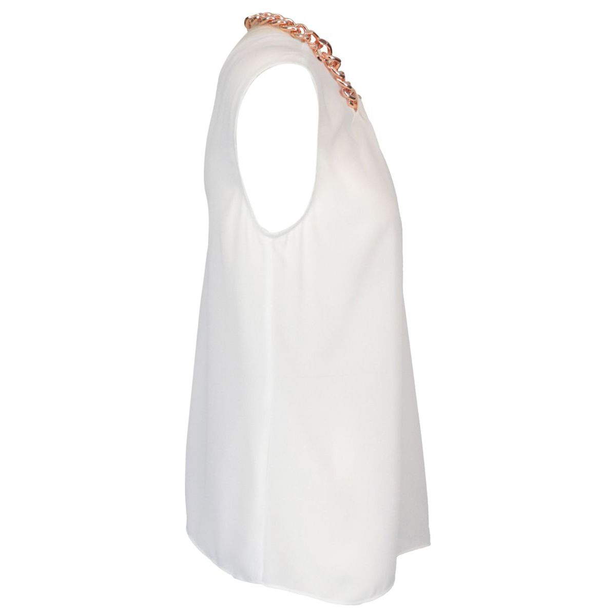 Folgore georgette tank top with chain White Nenette