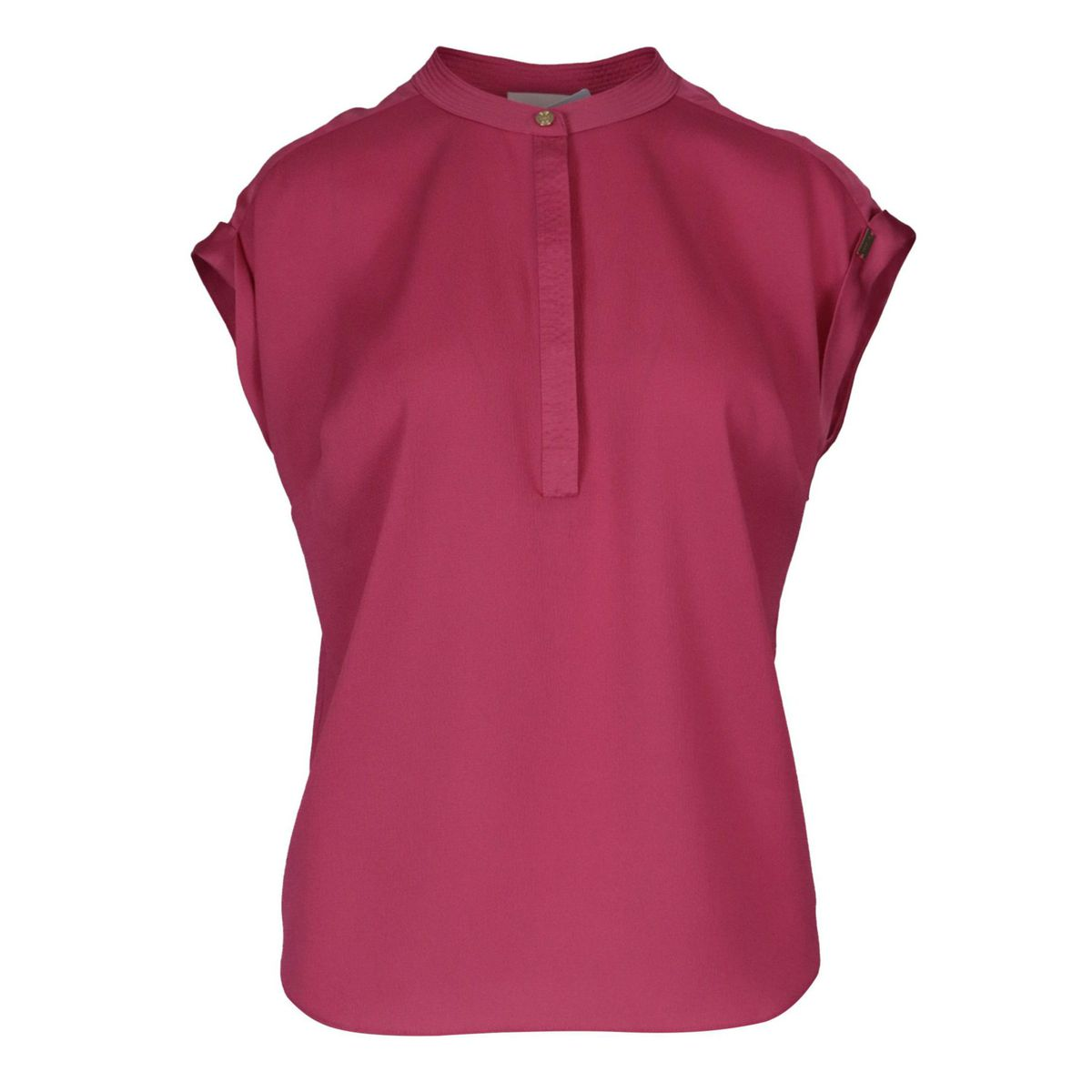 Folgore sleeveless blouse with Korean neckline Fuchsia Nenette