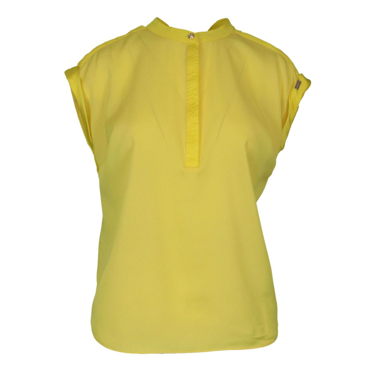 Folgore sleeveless blouse with Korean neckline Yellow Nenette
