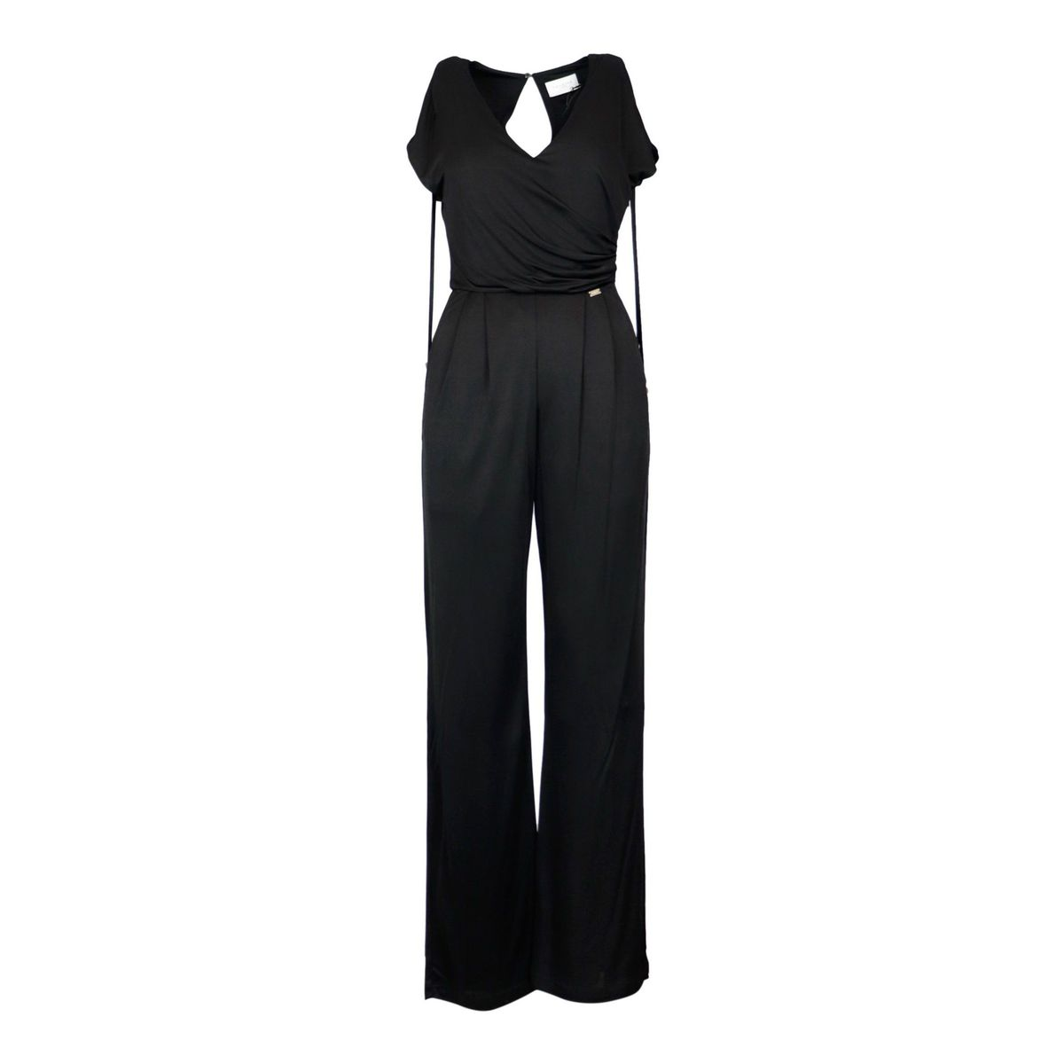 Hugo fluid jersey suit with V-neck Black Nenette