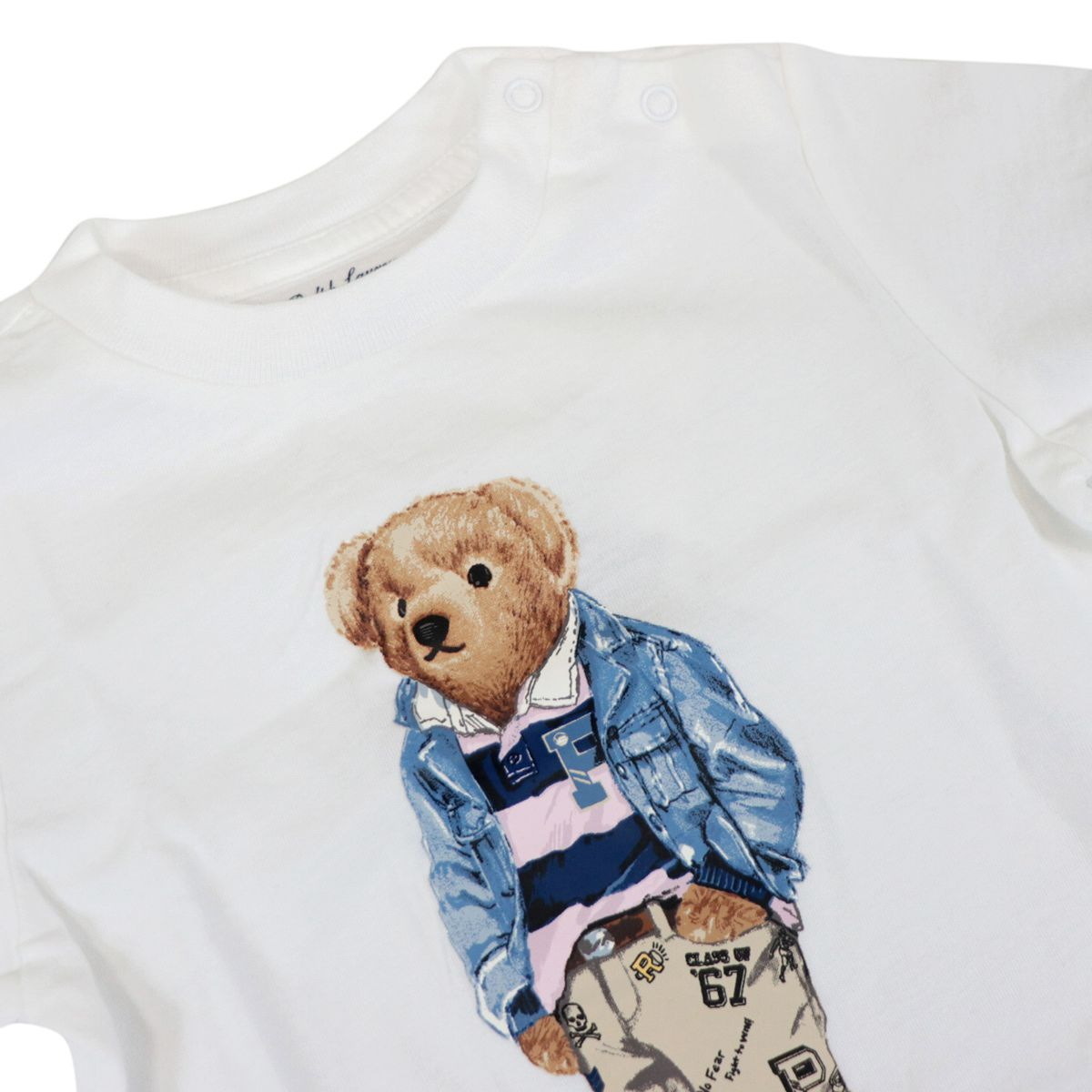 Cotton t-shirt with contrasting bear print White Polo Ralph Lauren