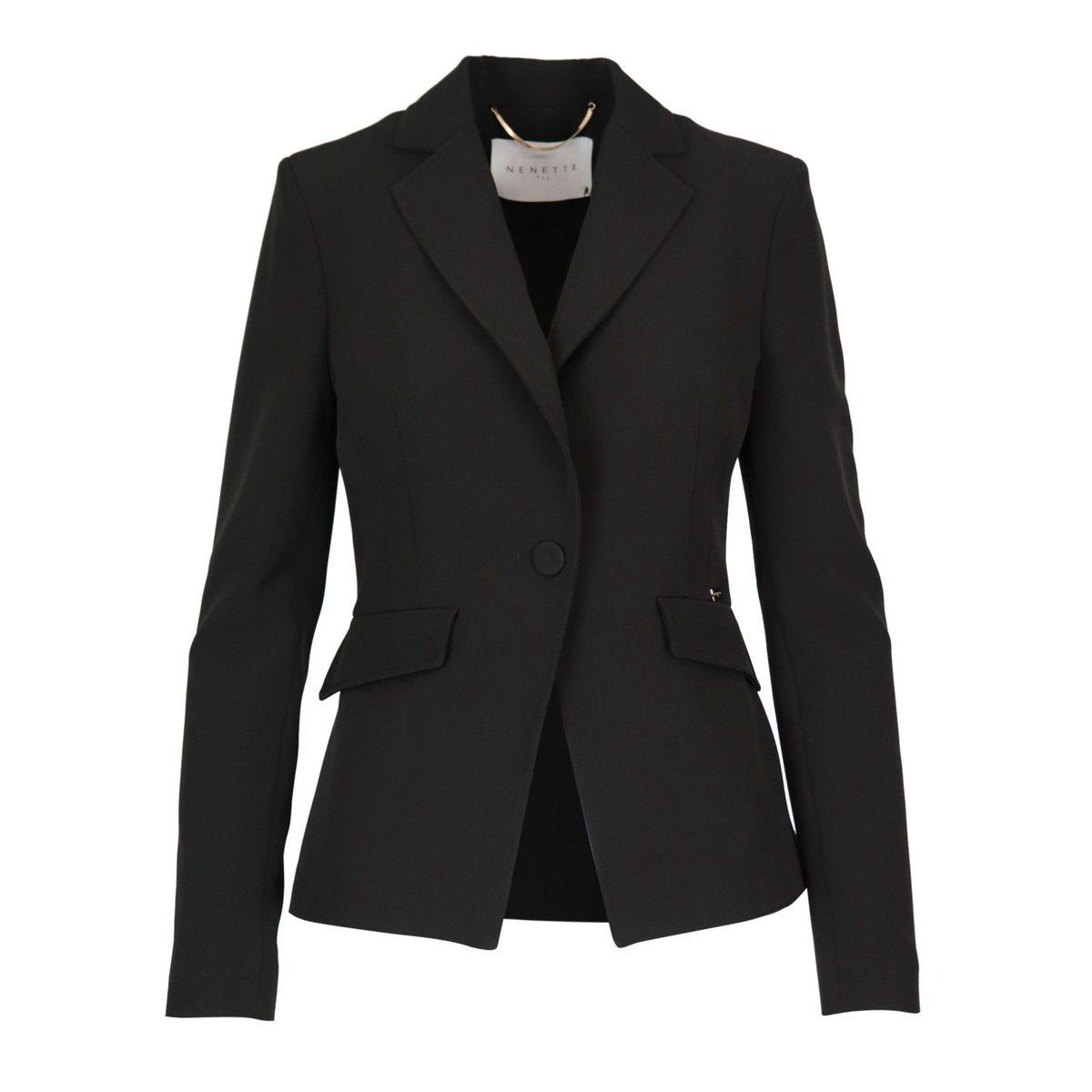 Baldo jacket in stretch fabric Black Nenette