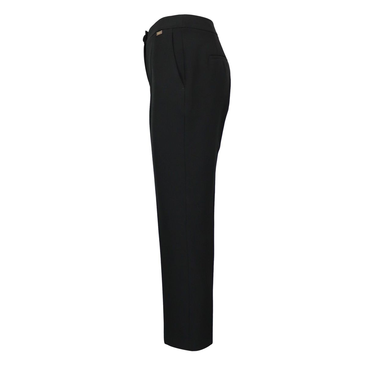 Erika crepe trousers with ironed crease and welt pockets Black Nenette