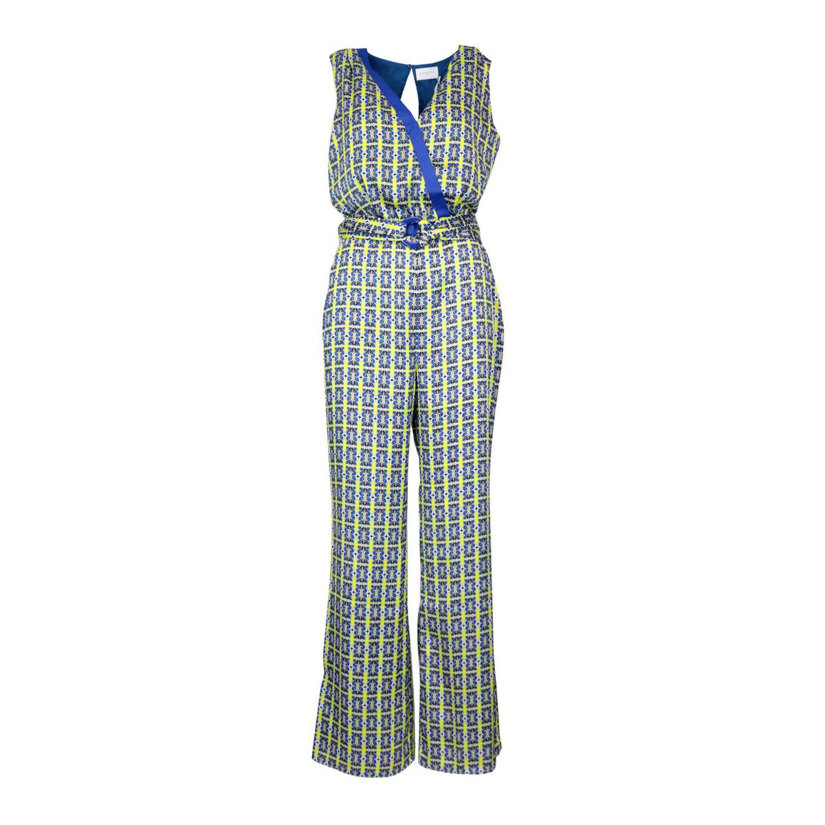 Heidi twill jumpsuit with fantasy print Blue Nenette