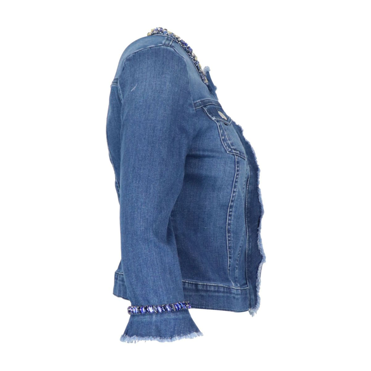 Sienna stretch denim jacket with jewel applications Dark denim Nenette