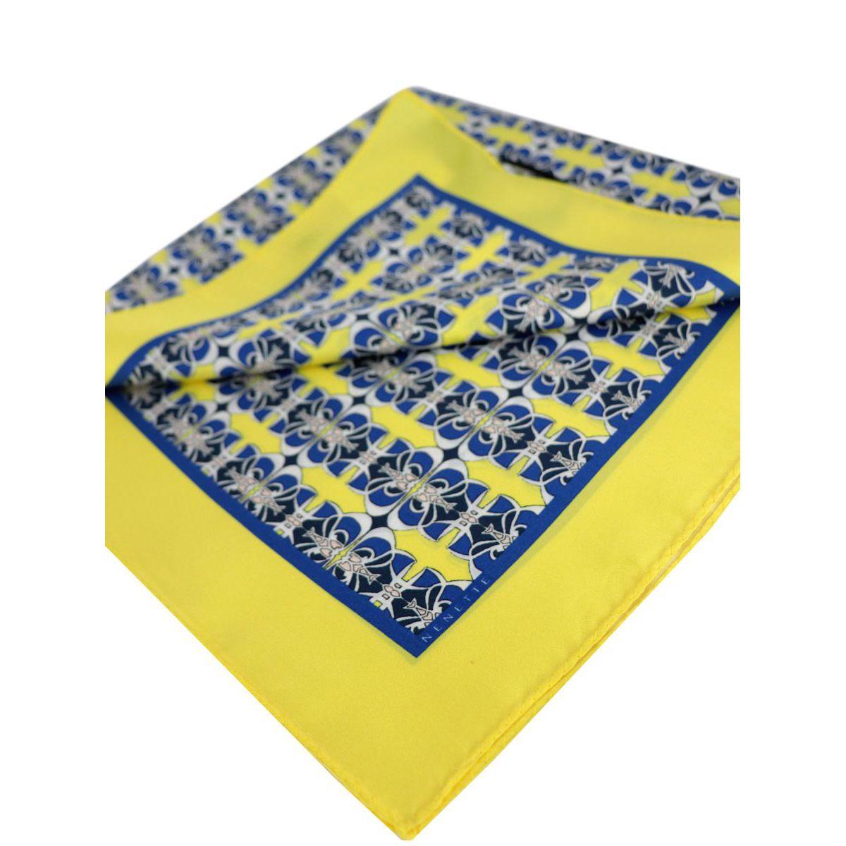 Zanzibar silk scarf Blue Nenette