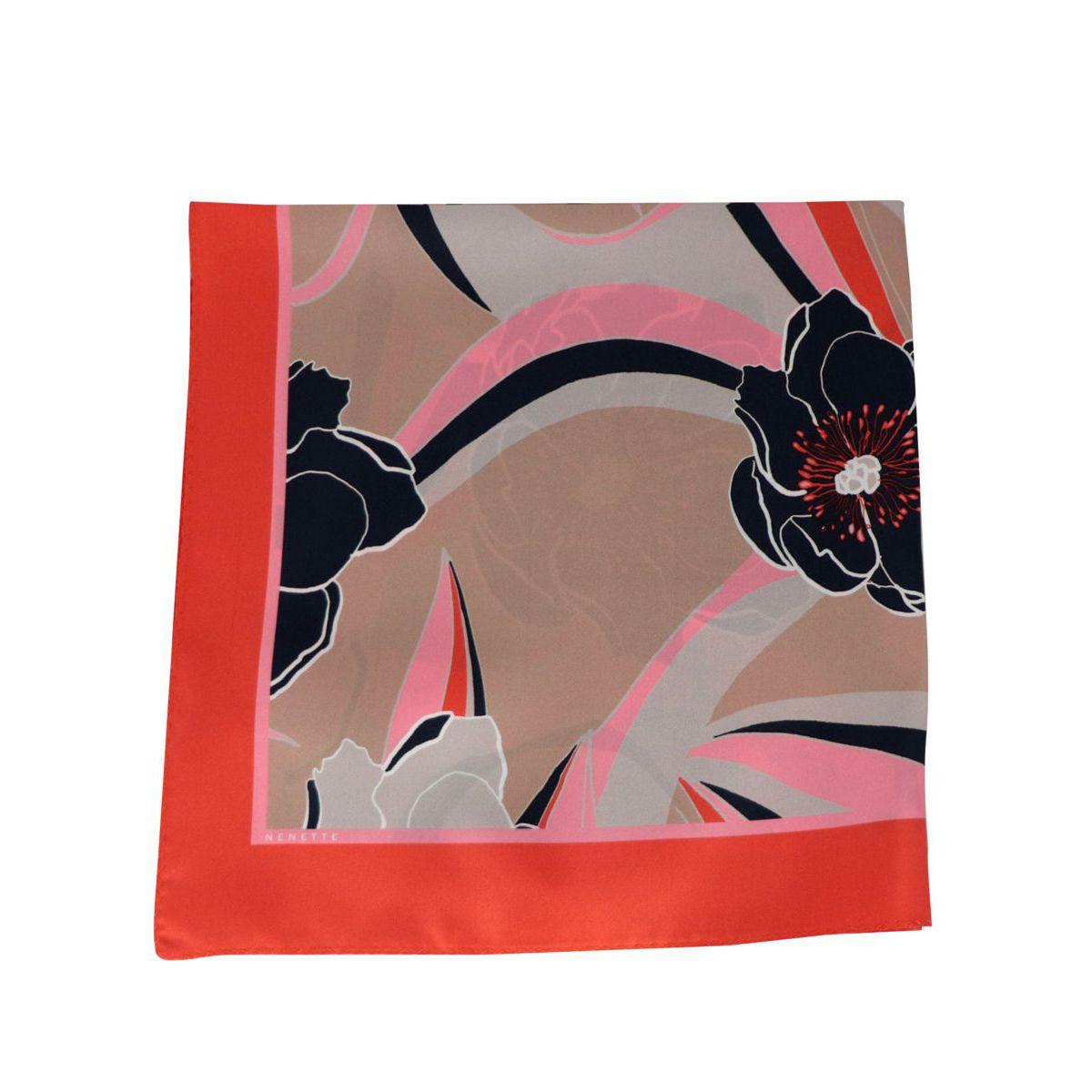 Zanzibar silk scarf Floral fantasy Nenette