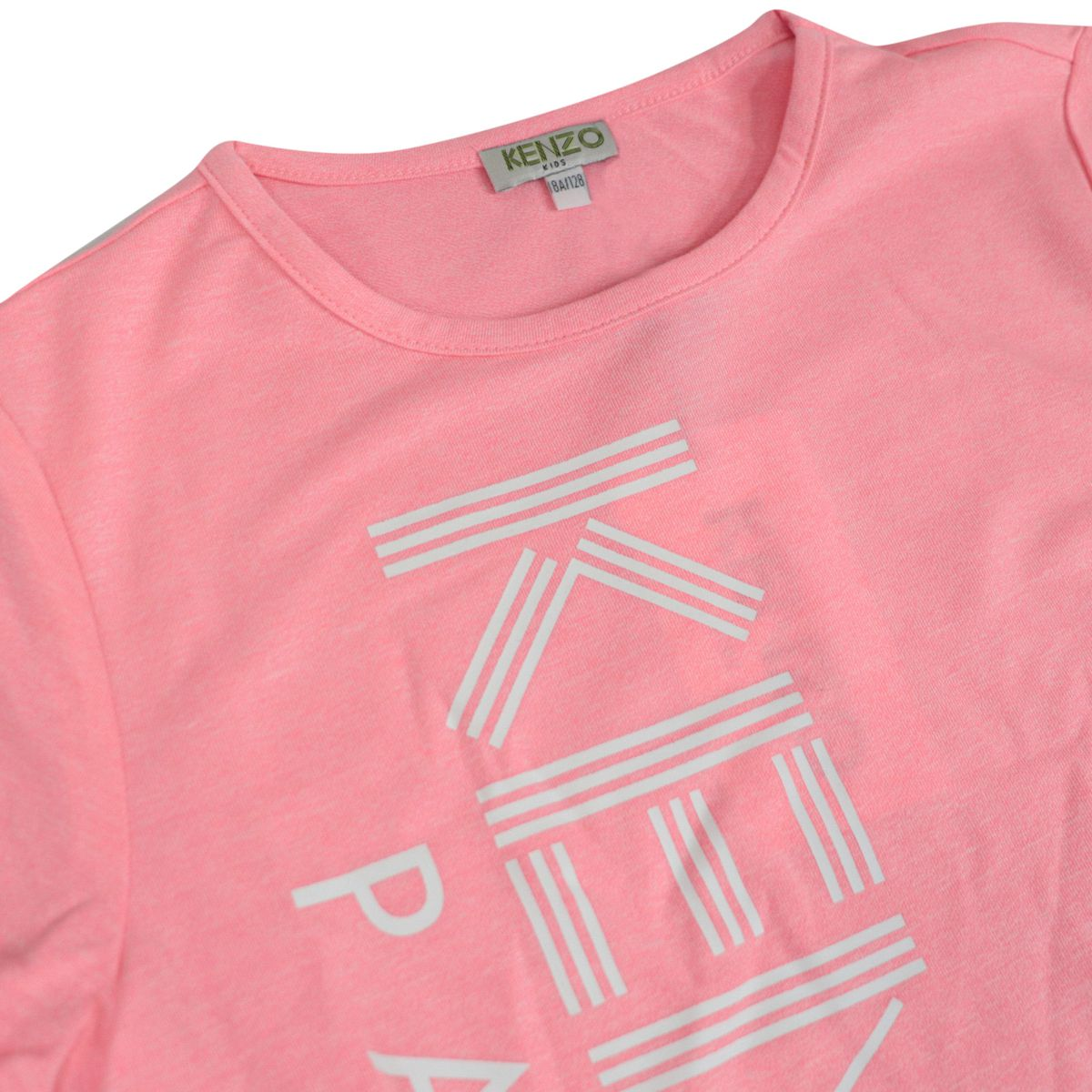Short-sleeved cotton T-shirt with logo print Pink Kenzo