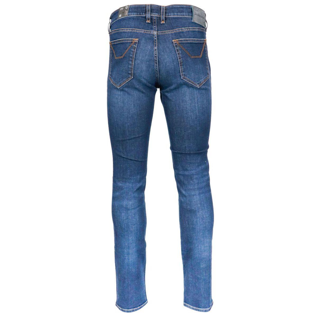 3 blend denim jeans with america pocket Dark denim Jeckerson