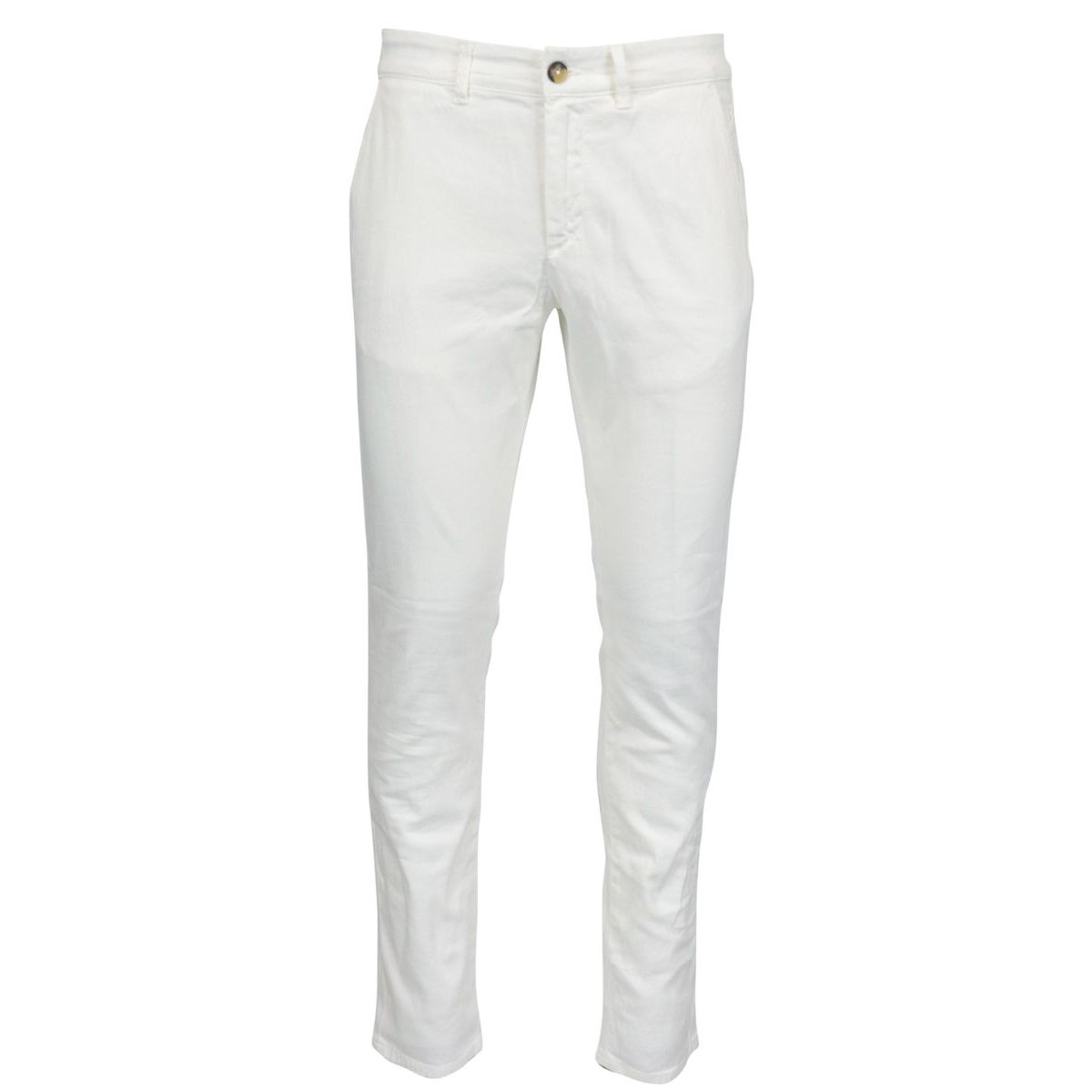 Armored cotton trousers with america pocket Optical white Jeckerson